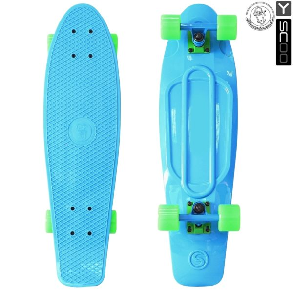 "402-B Скейтборд Y-SCOO Big Fishskateboard 27"" винил 68"
