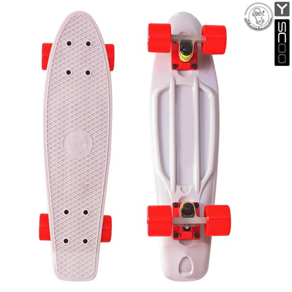 "401-G Скейтборд Y-SCOO Fishskateboard 22"" винил 56"