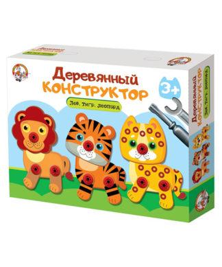 Деревянный конструктор Лев
