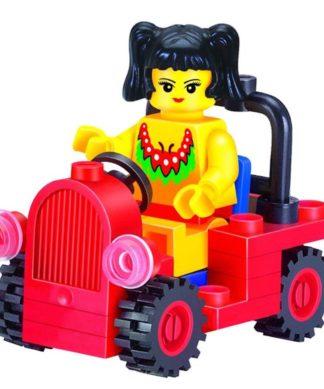 Детский конструктор Girls Series Девочка в автомобиле