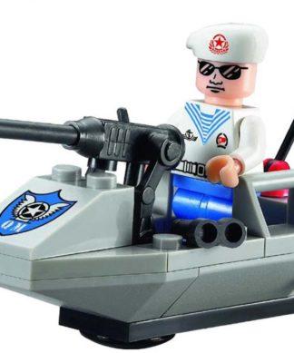 Детский конструктор Военно-морской катер с фигуркой