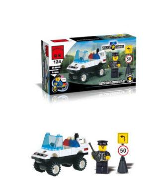 Игровой конструктор Полиция - Полицейский с автомобилем