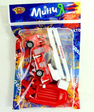 Игровой набор МиниМания - Инерционная пожарная машина с аксессуарами Yako Toys М6214