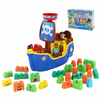 Игровой набор Пиратский корабль с конструктором