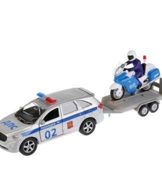 Инерционная машина Kia Sorento Prime - Полиция с прицепом Технопарк SB-18-04WB