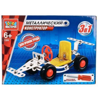 Конструктор Машинка 3-в-1 Город мастеров VV-1205-R