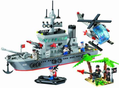 Конструктор Военный корабль и вертолет