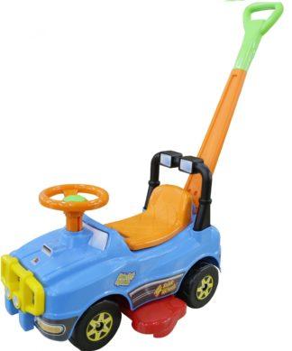 Машина-каталка Джип с ручкой и гудком