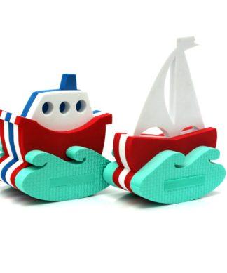 Набор игрушек-конструкторов для купания Кораблик и парусник El Basco 03-001